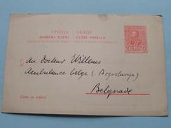 SERBIE - Carte Postale ( Jogoslavija ) Ambulance Belge Dr. Willems / Anno +/- 1900 ( Zie/voir Foto Voor Details ) !! - Serbie