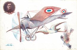 SAGER XAVIER (illustrateur) - Aviateur Guynemer, Avion Et Cigogne. - Sager, Xavier