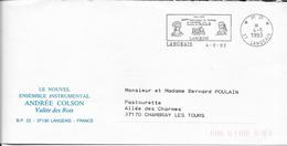 INDRE ET LOIRE 37  - LANGEAIS  - FLAMME : VOIR DESCRIPTION  -  PP 1993  - THEME PERSONNAGES CELEBRES - Postmark Collection (Covers)