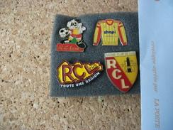 Lot De 4 Pins Pin´s Football Lens  RCL - Calcio