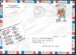 FRANCE / AFRIQUE DU SUD - 1991 - RETOUR A L EXPEDITEUR - RETURN TO SENDER - Storia Postale