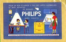 BUVARD : PHILIPS Eclairage Menagere - Electricité & Gaz
