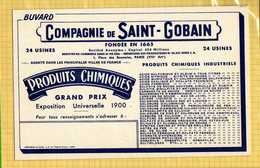 BUVARD :Compagnie De SAINT  GOBAIN  Engrais 24 Usines (Attention  Il Existe 4 Buvards Differents ) - Agriculture