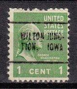 USA Precancel Vorausentwertung Preos Locals Iowa, Wilton Junction 705