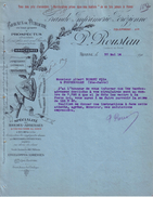 LOIRE - ROANNE - ENTÊTE NOISETIER ET BLASON - IMPRIMERIE , PUBLICITE , PROSPECTUS , ENEVELOPPES - P. ROUSTAN - 1914 - Imprimerie & Papeterie