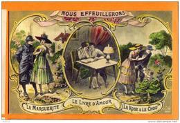 MAU-26 Couples Nous Effeuillerons La Marguerite, Le Livre D'amour, La Rose Et Le Chou. Litho  Non Circulé - Couples