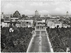 GERMANIA - BERLINO - PORTA DI BRANDEBURGO - VEDUTA AEREA - B/N ANNI 50 - VIAGGIATA 1962 - Brandenburger Tor