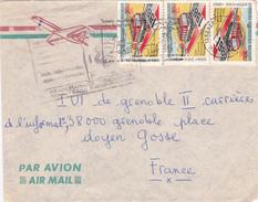 JOLIE LETTRE PAR AVION DE  MADAGASCAR VERS FRANCE - Madagaskar (1960-...)