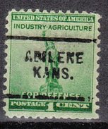 USA Precancel Vorausentwertung Preos Locals Kansas, Abilene 703
