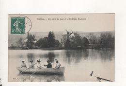 Nantua Un Coin Du Lac Et Le Chateau Dumont - Nantua