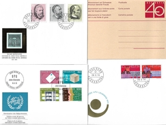 1401j: Vier Belege Zum Thema UPU- Weltpostverein Aus Der Schweiz - Post