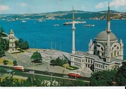 TURCHIA - ISTAMBUL - MOSCHEA DI DOLBAMAHCE E BOSFORO - VIAGGIATA1970 - Turchia