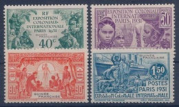 GUINEE - 115/118 EXPO 1931 COMPLETE NEUF* MLH - Unused Stamps