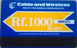 Maldives Phonecard Rf 1000 Autelca , Mint - Maldives