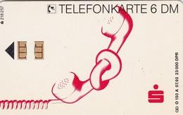 Germany, O 0150a-07/92, Card Number 598, Sparkasse - Telefonhörer 1, Only 23000, 2 Scans.