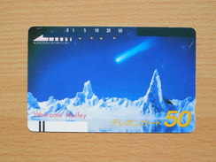 Japon Japan Free Front Bar, Balken Phonecard - 110-2382 / Comet Halley - Japan