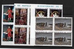 Napoléon La Serie N° 100/03  Bloc De Quatre  Non Dentelé + épreuves - Niger (1960-...)