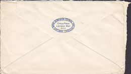 Great Britain BARCLAYS BANK (Dominion Colonial & Overseas) LONDON Purple Cds. 1937? Cover Brief Denmark EDWVIII (2 Scans - Briefe U. Dokumente