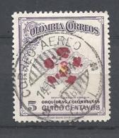 COLOMBIA  1947 Colombian Orchids  USED  - Cattleya Dowiana Aurea - Colombia