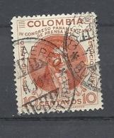 COLOMBIA     1947 Airmail - Pan-American Press Congress, Bogota  USED Francisco Jose De Caldas - Colombie