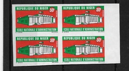 Ecole Nationnale ** 1 Bloc De Quatre  Non Dentelé - Niger (1960-...)