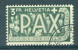 HELVETIA - Mi Nr 457 - PAX - Gest./obl. - Cote 110,00 € - Oblitérés