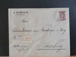 68/369  LETTRE RECOMM. GREECE POUR ALLEMAGNE    1913 - Griechenland