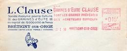 """Elite, Graine, """"Clause"""", Préférence, Brétigny Sur Orge - EMA Havas G - Enveloppe Entière  (S023) - 2. Seeds"""