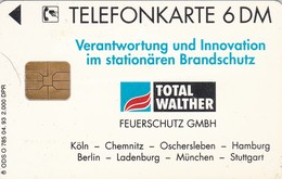 Germany, O 0785-04/93, Card Number 601, Total Walther Feuerschutz GmbH 1 - Inergen, Only 2000, 2 Scans.