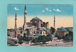Old Postcard Of Mosquee St. Sophie,Constantinople, Istanbul, Turkey,Q75. - Turkey