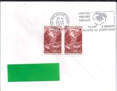 YT  1662   SSL   OBL MULHOUSE  GARE 20/1/71  FL /A DROITE  DANS VOS ADRESSES POSTALES - Marcophilie (Lettres)