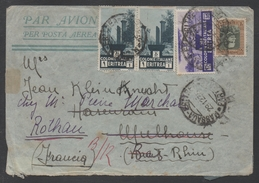 ERITREA - ERYTHREE - MASSAUA / 1935 LETTRE AVION REEXPEDIEE POUR LA FRANCE - ROTHAU (ref 4823) - Eritrea