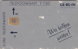 Dutch / German Cooperative Cards, CXD 330, GE.BE.IN - Wir Helfen Weiter!, Only, 2 Scans.   Wear