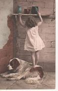 Chien Bienveillant Avec Fillette - Cartes Postales