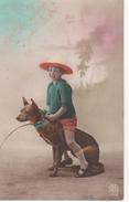 Chien Servant De Cheval à Une Fillette - Cartes Postales