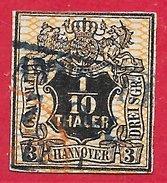 Hanovre N°13 0,1T Noir & Orange 1856 O - Hannover