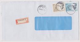 Enveloppe Cover Brief Aangetekend Registered Recommandé Charleroi X - Belgique
