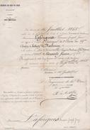 CHEMINS De FER Du MIDI - EMBAUCHE PERSONNEL - 1868 - Vieux Papiers