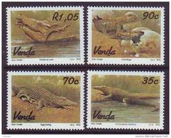 D101225 Venda 1992 South Africa CROCODILES Reptiles Aligators MNH Set - Afrique Du Sud Afrika RSA Sudafrika - Venda