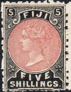 Fiji 1882 SG69 5/- Dull Red And Black Unmounted Mint With Large Selvedge - Fiji (...-1970)