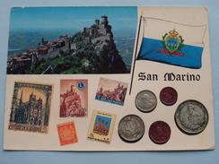 San MARINO ( Coins / Stamps ) Anno 19?? ( Zie/voir Foto Voor Details ) !! - Saint-Marin