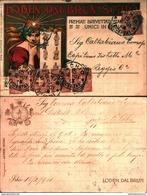 88056)  Cartolina Publicitaria - Loden Del Brun-schio-con 10c. Effige Del Rè-da Schio A Reggiocalabria Il 6/3/1901 - Publicité