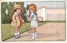 BERTIGLIA .A (illustrateur) - Partie De Tennis. - Bertiglia, A.