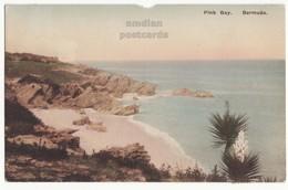 PINK BAY BEACH VIEW, BERMUDA CARIBBEAN ANTILLES C1927 Vintage Postcard - Bermuda