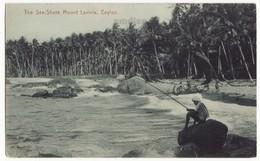 CEYLON, Colombo, Mount Lavinia Sea Shore, Native Man Fishing C1910s Vintage Postcard CEYLAN - SRI LANKA - Sri Lanka (Ceylon)