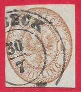 Lübeck N°13 1,25s Brun-rouge 1864 (LUEBECK) O - Luebeck