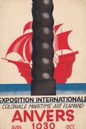 Antwerpen, Anvers Exposition Internationale Coloniale Maritime Art Flamand Avril-oct 1930, Bijgeknipt (pk34465) - Antwerpen