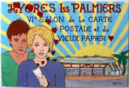 HAMM Patrick Hyères Les Palmiers Salon 1990 Avec Sticker Au Verso Du Club - Hamm