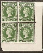 Australia 1955 SG 288 Centenary 1st Australian Stamp  Corner Block Of Four Unmounted Mint - Neufs
