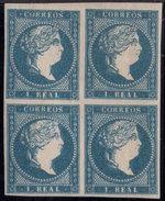 España 1856. Isabel II. Edifil 49 Bloque De 4. MH. *. - 1850-68 Kingdom: Isabella II